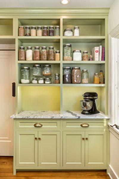 Avocado Green Custom Cabinet