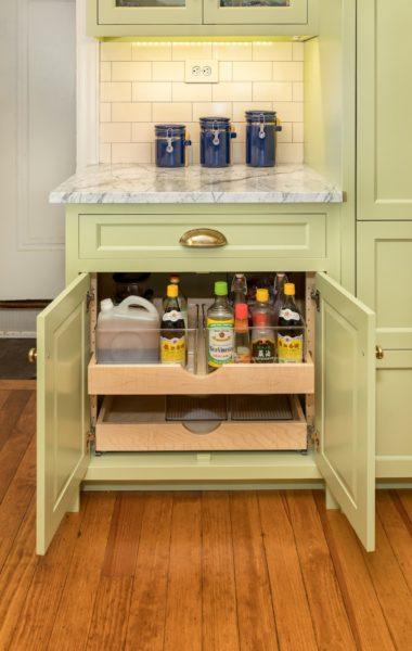 Avocado Green Pantry Cabinet