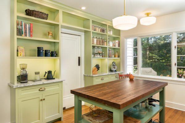 Custom Avocado Green Cabinets