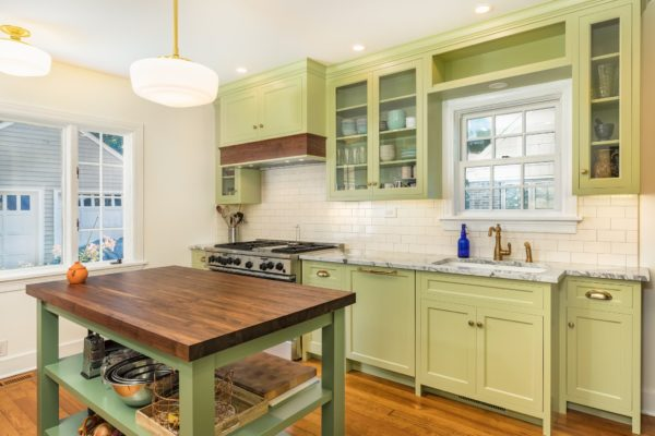 Green and Gold Cabinet Colors