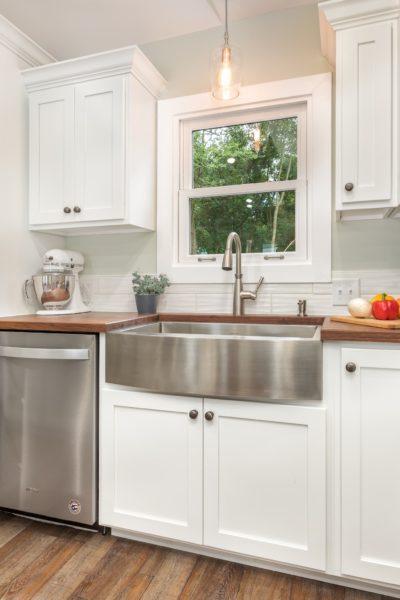White Kitchen Matching Window Trim